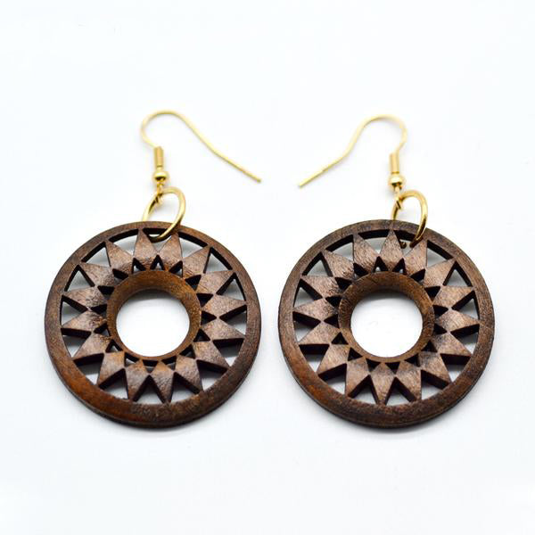 Hollow African Wood Leaf Earrings,artistic bae review, artisticbae reviews, artistic bae reviews, artsy clothing  - Artistic Bae