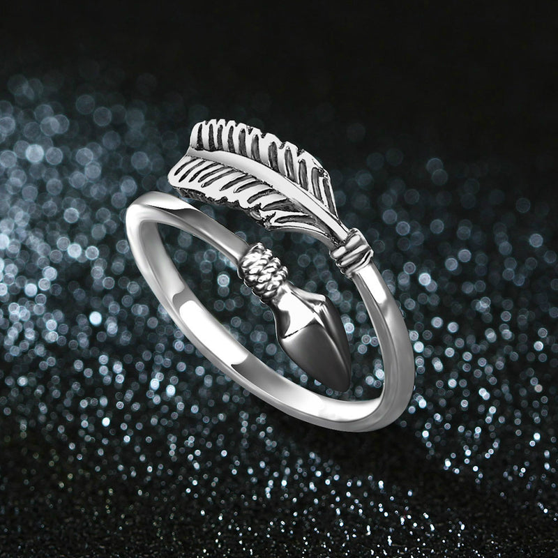 Feather Arrow Ring,artistic bae review, artisticbae reviews, artistic bae reviews, artsy clothing  - Artistic Bae