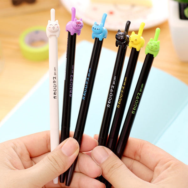 8pcs Cute Kitties Black Ink Gel Pen,artistic bae review, artisticbae reviews, artistic bae reviews, artsy clothing  - Artistic Bae