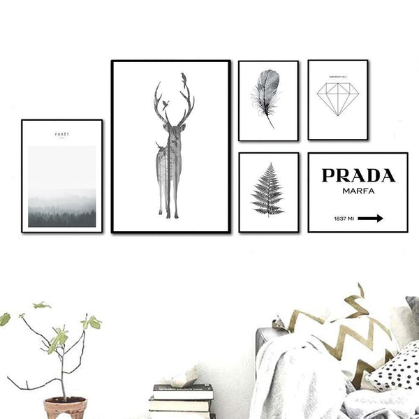 Black & White Nordic Style Wall Art,artistic bae review, artisticbae reviews, artistic bae reviews, artsy clothing  - Artistic Bae