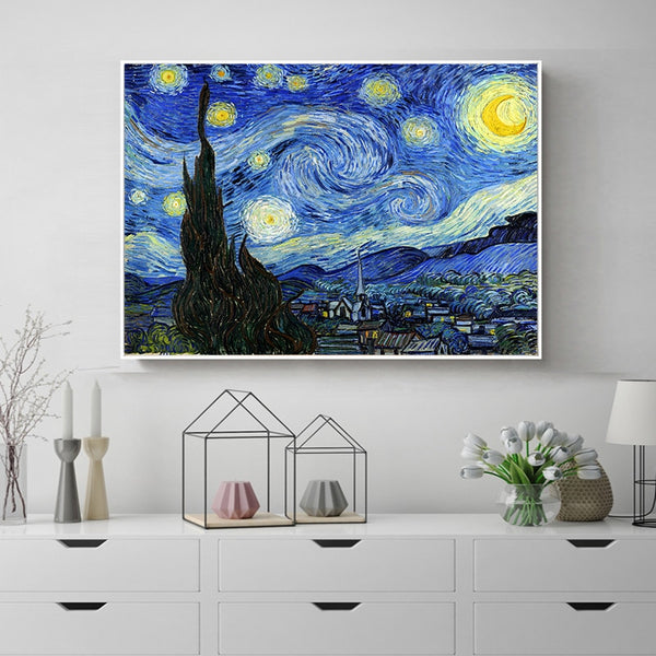 Van Gogh Starry Moonlight Canvas Art