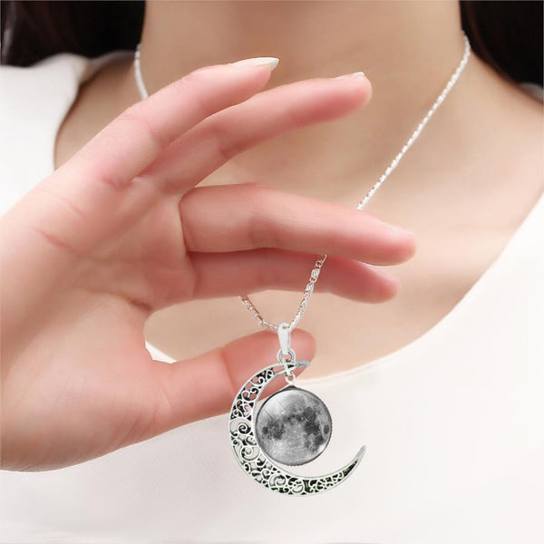 Interstellar Moon Pendant Necklace,artistic bae review, artisticbae reviews, artistic bae reviews, artsy clothing  - Artistic Bae
