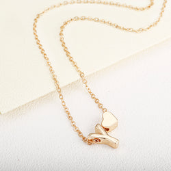 Tiny Gold Initial Letter Necklace
