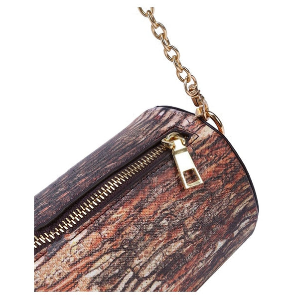 Tree Stump Shoulder Bag
