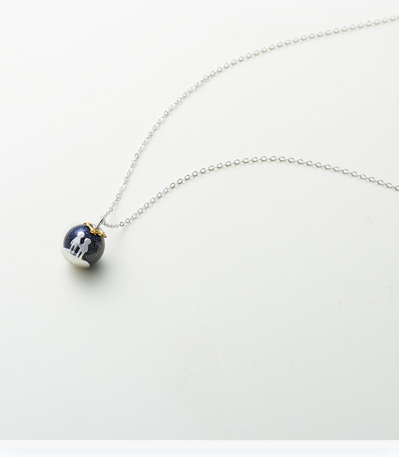 Childhood Blue Gravel Gem Stone Pendant Necklace,artistic bae review, artisticbae reviews, artistic bae reviews, artsy clothing  - Artistic Bae