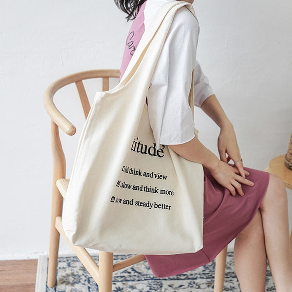 """Attitude'"" Casual Canvas Bags,artistic bae review, artisticbae reviews, artistic bae reviews, artsy clothing  - Artistic Bae"