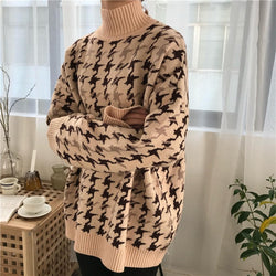 Plaid Turtleneck Thick Sweater,artistic bae review, artisticbae reviews, artistic bae reviews, artsy clothing  - Artistic Bae
