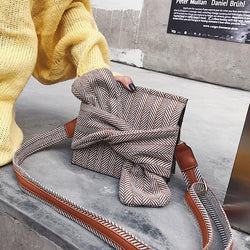 Bowknot Plaid Messenger Bag,artistic bae review, artisticbae reviews, artistic bae reviews, artsy clothing  - Artistic Bae