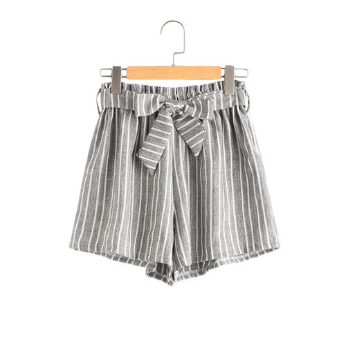 Artist Striped Elastic Waist Shorts,artistic bae review, artisticbae reviews, artistic bae reviews, artsy clothing  - Artistic Bae