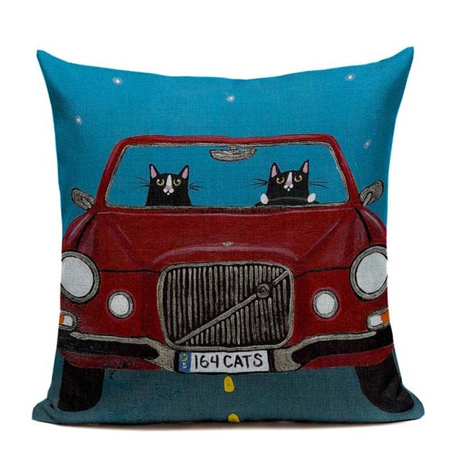 Lovely Cartoon Animal Driver Pillow Cover,artistic bae review, artisticbae reviews, artistic bae reviews, artsy clothing  - Artistic Bae