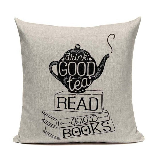 Book Tea Coffee Wine Love Cushions,artistic bae review, artisticbae reviews, artistic bae reviews, artsy clothing  - Artistic Bae