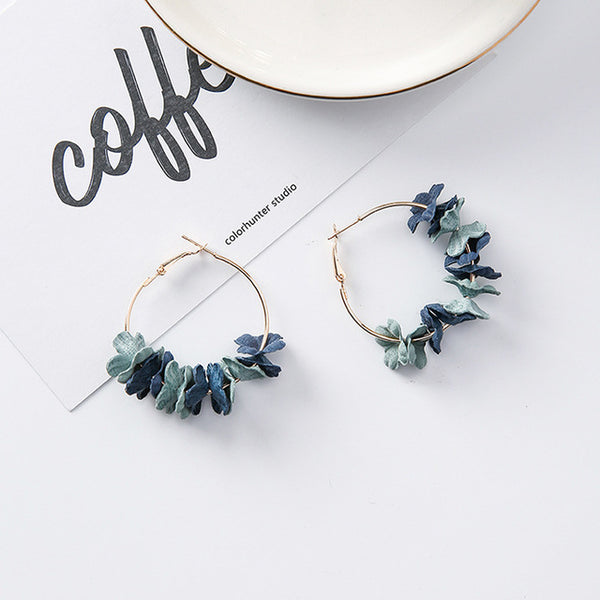 Elegant Fabric Flower Drop Earrings,artistic bae review, artisticbae reviews, artistic bae reviews, artsy clothing  - Artistic Bae