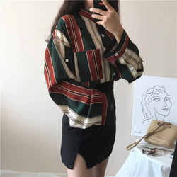 Oversize Retro Painter's Striped Shirt,artistic bae review, artisticbae reviews, artistic bae reviews, artsy clothing  - Artistic Bae