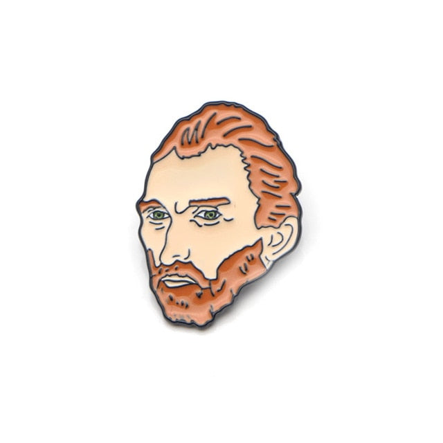 Van Gogh Portrait Pin,artistic bae review, artisticbae reviews, artistic bae reviews, artsy clothing  - Artistic Bae