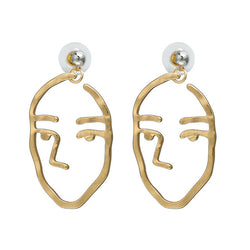 Abstract Line/Face Earrings,artistic bae review, artisticbae reviews, artistic bae reviews, artsy clothing  - Artistic Bae