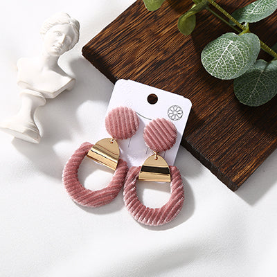 Hollow Velvet Geometric Earrings,artistic bae review, artisticbae reviews, artistic bae reviews, artsy clothing  - Artistic Bae