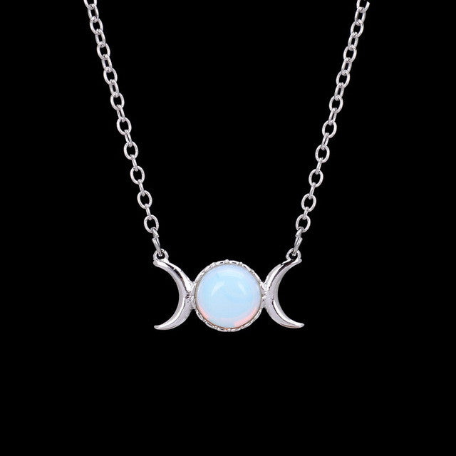 Crystal Crescent Moon & Sun Pendant Necklace,artistic bae review, artisticbae reviews, artistic bae reviews, artsy clothing  - Artistic Bae