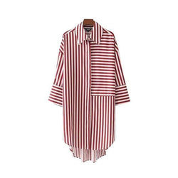 Striped Long Pleated Blouses,artistic bae review, artisticbae reviews, artistic bae reviews, artsy clothing  - Artistic Bae