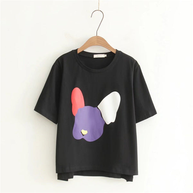 Colorful Patchwork Rabbit T-Shirt,artistic bae review, artisticbae reviews, artistic bae reviews, artsy clothing  - Artistic Bae