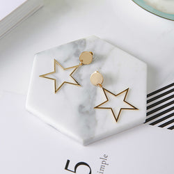 Vintage Big Star Earrings,artistic bae review, artisticbae reviews, artistic bae reviews, artsy clothing  - Artistic Bae