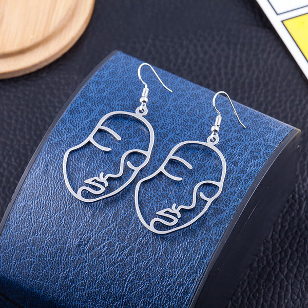 Abstract Face Earrings,artistic bae review, artisticbae reviews, artistic bae reviews, artsy clothing  - Artistic Bae