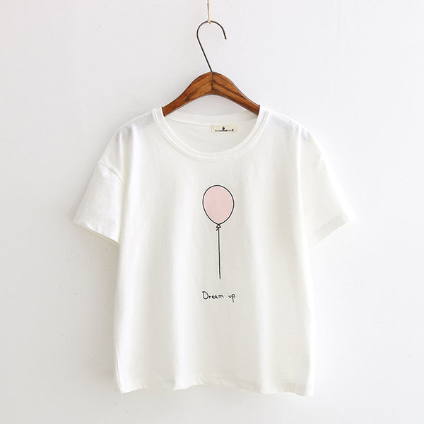 "Cute ""Dream Up"" Balloon T-Shirt,artistic bae review, artisticbae reviews, artistic bae reviews, artsy clothing  - Artistic Bae"