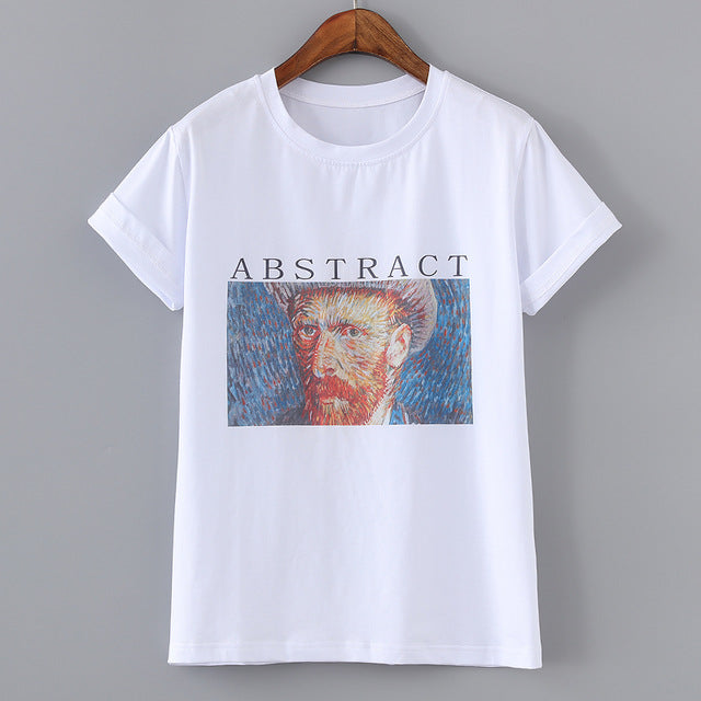Abstract Van Gogh Oil Painting T-Shirts,artistic bae review, artisticbae reviews, artistic bae reviews, artsy clothing  - Artistic Bae
