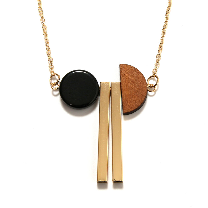 Minimalist Geometric Wood Pendant Necklace,artistic bae review, artisticbae reviews, artistic bae reviews, artsy clothing  - Artistic Bae
