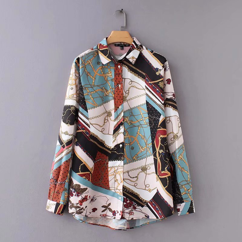Vintage Chain Patchwork Shirt