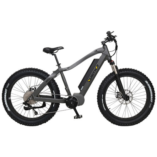 Quietkat Apex 2019 ebike model, colored in charcoal on a white background.  image is side profile facing right