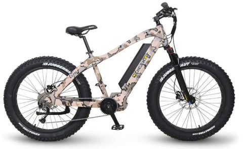 Quietkat electric hunting bike 2019 Apex with camo paint, side profile facing right