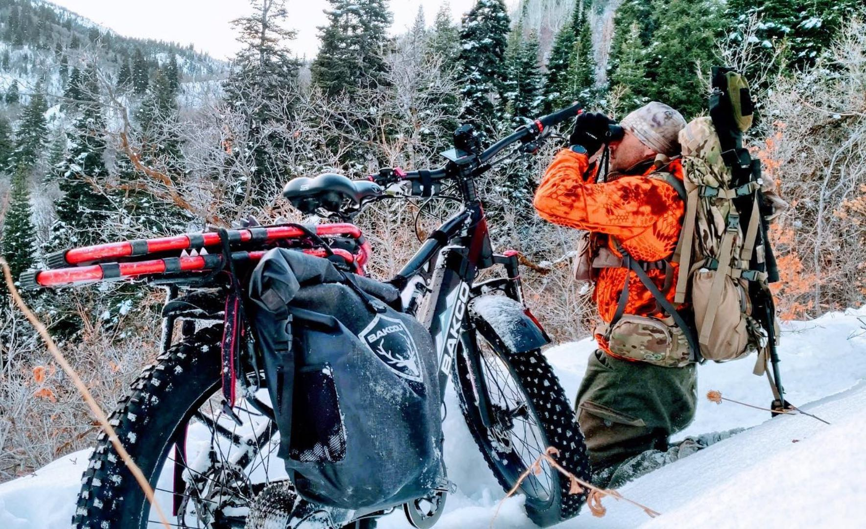 The Storm by Bakcou electric bicycle serves hunters in any weather conditions.