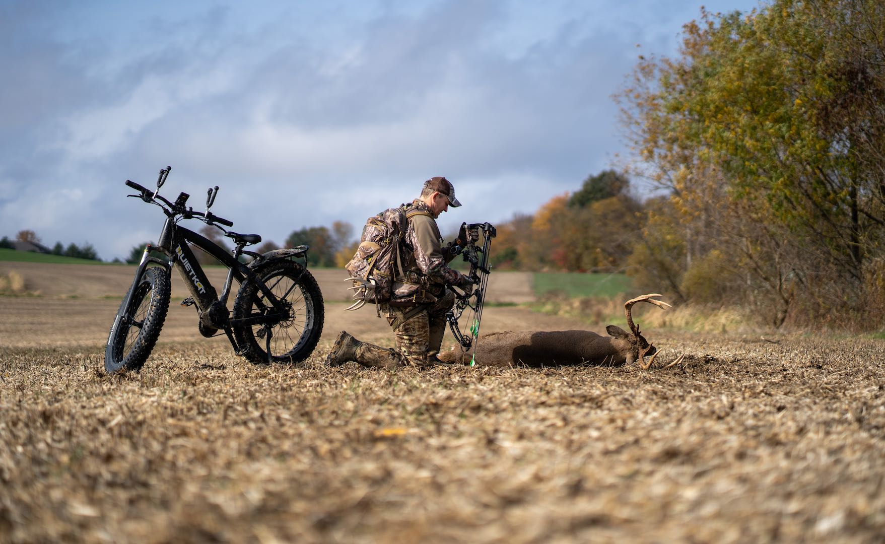 fat tire electric bikes are quiet and don't scare game away.