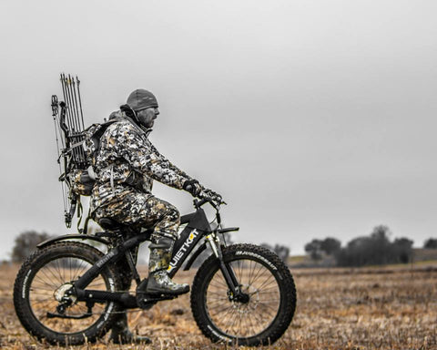 Bowhunter on Quietkat Electric Hunting Bike