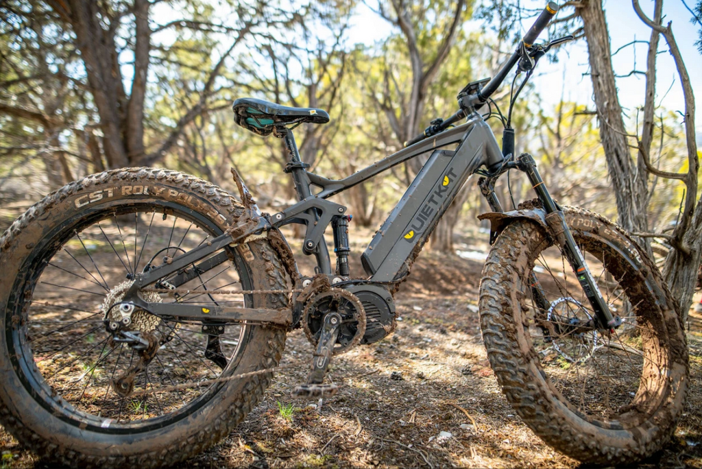 RidgeRunner in the woods with dirt on the tires