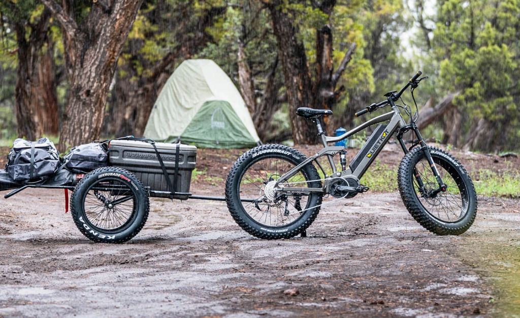 RidgeRunner with a cargo trailer and cooler along with it.
