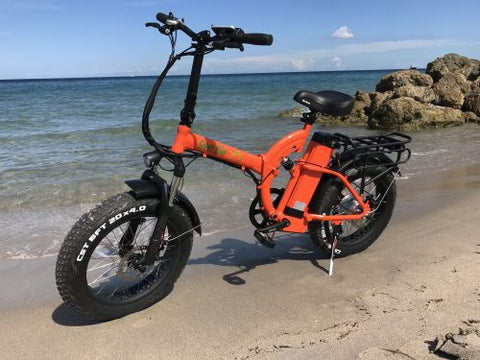 GB500 Fat Tire on the beach