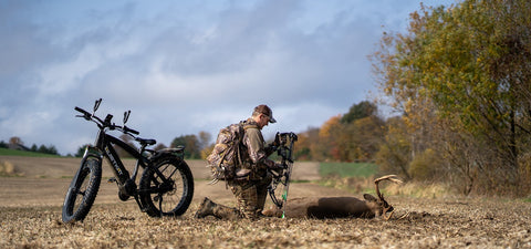 Hunter with Electric hunting bike
