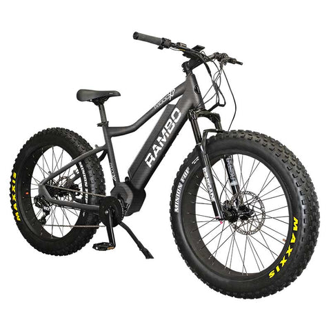 Rambo R750XP Electric Hunting Bike in carbon paint