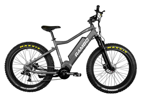 Rambo Nomad 750W XPS Carbon and XPC11 Truetimber Electric Hunting Bike
