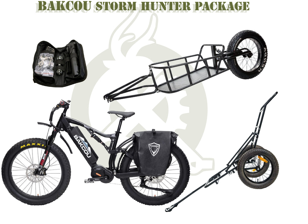 Storm package. White background. Green font.