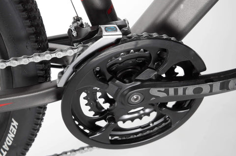 image of Jetson Adventure electric bike close up of gears and pedal