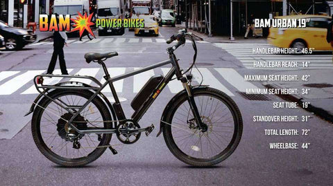 BAM Power Bikes Urban Electric Bike