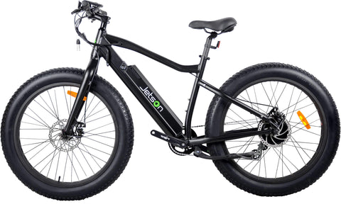 image of Jetson Fat Tire Electric Bike profile view facing left color black