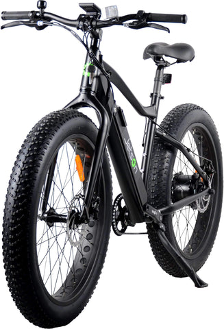 image of Jetson Fat Tire Electric Bike left three quarter view color black