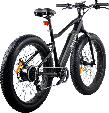image of Jetson Fat Tire Electric Bike rear profile view color black