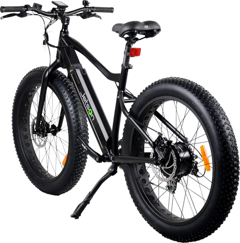 image of Jetson Fat Tire Electric Bike rear view facing slightly left color black