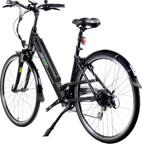image of Jetson Rose Electric Bike side profile view facing left color black