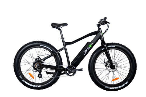 image of Jetson Fat Tire Electric Bike profile view facing right color black