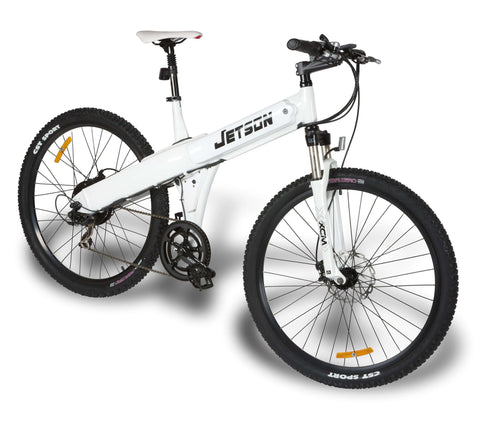 image of Jetson MTB Electric Mountain Bike side profile facing right color white